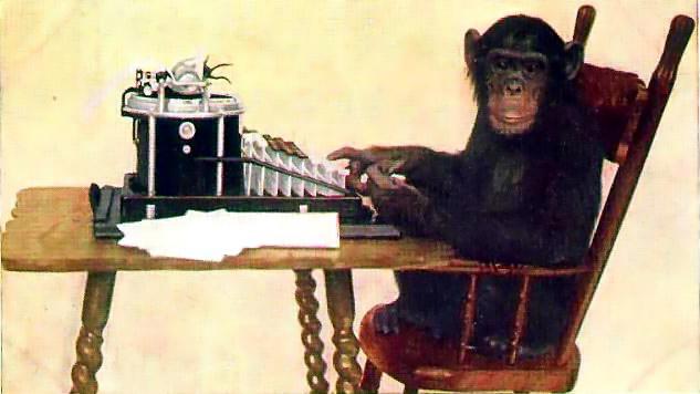 Monkey with typewriter